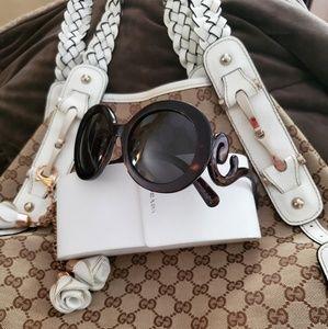 Prada Baroque Swirl Round Sunglasses